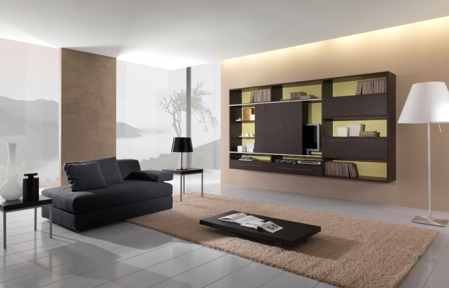 Front room colour schemes modern house for Modern front room